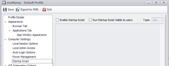 startup sript